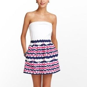 Lilly Pulitzer | Whales Tales Strapless Dress